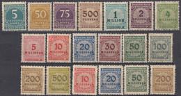 DEUTSCHES REICH - 1923 - Serie Completa Composta Da 19 Valori Nuovi MNH: Yvert 291/309. - Ongebruikt