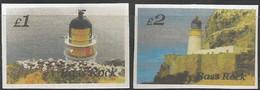 SCOTLAND - BASS ROCK - Lighthouse - Imperf 2v Set - Mint Never Hinged No Gum - Local Cinderella - Cinderelas