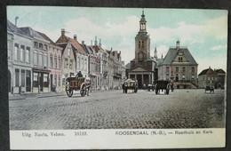 Roosendaal Raadhuis En Kerk - Kleur - Postzegel 1908 - Roosendaal