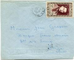 CAMBODGE LETTRE DEPART PHNOMPENH 22-8-1952 CAMBODGE POUR LE VIETNAM - Cambodja