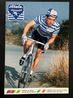 Tullio Cortinovis - Atala - 1989 - Carte / Card - Cyclists - Cyclisme - Ciclismo -wielrennen - Cycling
