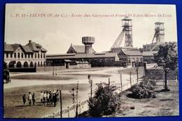 Carte Postale Ancienne  -Mines De Lens - L.P .11-LIEVIN -Ecole Des Garçons Et Fosse N°3 - Mijnen