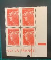 """Marianne De Beaujard - TVP France 20g - Bloc De 4 """"variété """" - Faciale 5€ (valeur Permanente) - 2008-13 Marianne (Beaujard)"""