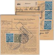 All.Bes./Kontrollrat - Speicherz ü. Brückenau Landpost-Ra2 Paketkarte 1946 - American,British And Russian Zone
