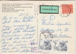 Norwegen/Schweden - 60 Ö. Fremdverwendung Karte Grebbestad Örebro 72 Nachporto - Postwaardestukken
