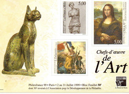 "Feuillet N° 23 "" Chefs D' Oeuvre De L ' Art "" Philexfrance 99 - Nuovi"