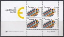 PORTUGAL Block 34, Postfrisch **, 25 Jahre Europäische Wirtschaftsgemeinschaft (EWG) 1982 - Hojas Bloque