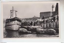 RT29.847 MARSEILLE CHATEAU D'IF.LE BATEAU MONTE-CRISTO  LIBERE LES VISITEURS.PHARE. N° 129 REAL-PHOTO.CAP - Festung (Château D'If), Frioul, Inseln...