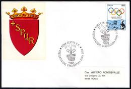 ITALIA ROMA 1995 - PRESENTAZIONECANDIDATURA DI ROMA PER I GIOCHI OLIMPICI DEL 2004 - BUSTA DEL COMUNE DI ROMA - Verano 2004: Atenas
