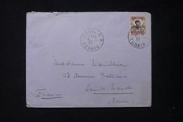 TCH'ONG K'ING - Affranchissement Surchargé Sur Enveloppe De Hanoi Pour La France En 1927 - L 84248 - Briefe U. Dokumente