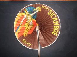 BIERE - EVENTAIL PUBLICITAIRE - BIERE SICAMBRE - 51, REIMS - Bière