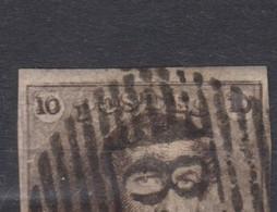 Belgique N°1 10c épaulettes P 85 NAMUR Margé, Variété DOUBLE CADRE SUPERIEUR Dégagé, Nuances Voir Scan; - 1849 Epaulettes