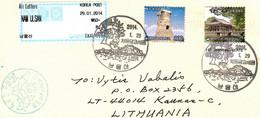 Korea 2013 . Cover To Lithuania (Architecture ). - Corea (...-1945)
