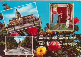 CARAVAGGIO - SANTUARIO BEATA VERGINE - VEDUTINE MUTIVUES - FIORI FLOWERS ROSE - VIAGGIATA 1961 - Other Cities