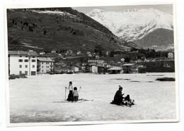"""PONTE DI LEGNO FOTOGRAFIA ANIMATA - BRESCIA - LOMBARDIA - VERA FOTO ANNI 60"""" ORIGINAL PHOTO 10x6,5 Cm - F398 - Places"""