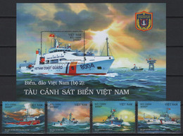 Vietnam (2020)  - Set + Block -   /  Coast Guard - Ships - Bateaux - Barche - Boat - Barcos