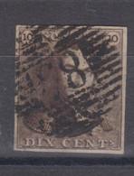 Belgique N°1 10c épaulettes P 85 NAMUR Margé, Pour Marges, Variétés, Nuances Voir Scan; - 1849 Epaulettes
