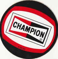 Rare Autocollant Années 70-80 Champion Format 8 Cm - Stickers