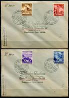 """German Empires 1941, 2 Satzbriefe/Cover Mit Mi.Nr.806/09 Eingliederungen Mit 4 SST""""Velden,Marburg,Pettau """" 2 Belege Used - Briefe U. Dokumente"""