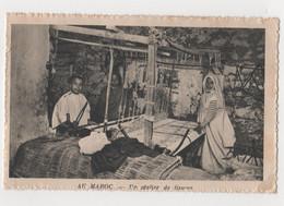 CPA Maroc Un Atelier De Tissage Année 1938 - Otros