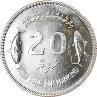Monnaie, MALDIVE ISLANDS, 20 Rufiyaa, 1977, FDC, Argent, KM:56 - Maldives