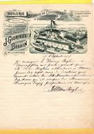 1 Facture  Séchoir De Chicorées Fabrique De Tourteaux &Farine De Lin  J.Glorieux - Beghin ESCANAFFLES  1907 - 1800 – 1899