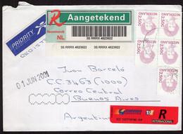 Nederland - 2001 - Lettre - Priority - Envoyé En Argentine - Storia Postale