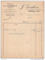 26 ROMANS FACTURE 1934 Représentant Des Ets J.E. JOHNSON  J. GENTHON Machines Pour Chaussures   / R12 - 1900 – 1949