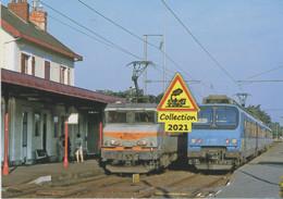 679 - BB 22265 Et Automotrice Z 9600, à Pornichet (44)  - - Estaciones Con Trenes