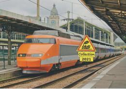 684 - Rame TGP PSE 01, Exposée à Paris-Gare De Lyon (75) - - Stations With Trains