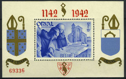 België BL18 * - Orval Met Engelse Cijfers - Rode Opdruk - Getand - Genummerd - Blokken 1924-1960