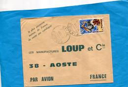 FMARCOPHILIE-TCHAD- Lettre +thematic->Françe-cad Fianga1979- Stamp N°108 Parc De Zakouma - Chad (1960-...)