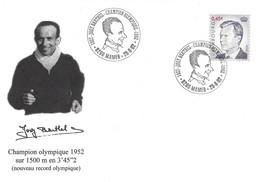 Luxembourg 2002 Cachet Spécial Josy Barthel Champion Olympique Helsinki 1952 ¦ Olympic Winner ¦ Olympiasieger - Cartas