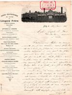 1 Facture  Grosse Chaudronnerie De Cuivre  Appareils Pour Brasseries Sucreries  Léopold Frère  GILLY JENSON  1901 - 1800 – 1899