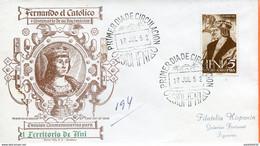 "Maroc,Ifni,FDC 1952 "" Ferdinand Le Catholique ""Morocco,Marruecos - Ifni"