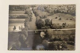 """Carte Postale : 33 LES EGLISOTTES : """"La Dronne"""", Vue Aérienne , Timbre En 1957 - Other Municipalities"""