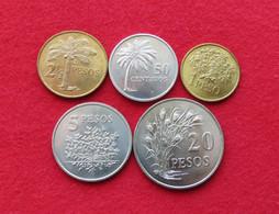 Guinea Bissau Set 50 Centavos 1 2,1/2 5 20 Pesos 1977 FAO F.a.o. - Guinea-Bissau