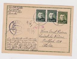 SLOVAKIA WW II 1942 CADCA Censored Postal Stationery To CROATIA SUSAK ITALY - Cartas