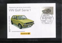 Germany / Deutschland  2017 VW Golf Serie 1 FDC - Cars