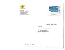 """FRANCE : Superbe Entier Postal """"une Année 2021 Pleine De Magie"""" + Carte De Voeux Philaposte - Ohne Zuordnung"""