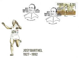 Luxembourg 2017 FDC Josy Barthel Champion Olympique Helsinki 1952 ¦ Olympic Winner ¦ Olympiasieger - Cartas