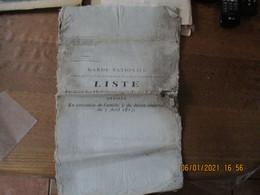 GARDE NATIONALE LISTE DE TOUS LES HABITANTS ÂGES DE 20 A 40 ANS DECRET IMPERIAL DU 5 AVRIL 1813 LOUVIGNIES NORD VOIR ETA - Documenti Storici
