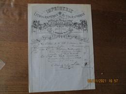 AVESNES NORD ETIENNE RIEZ IMPRIMERIE LITHOGRAPHIQUE AUTOGRAPHIQUE GRANDE PLACE N°15 FACTURE DU 30 JUIN 1886 - 1800 – 1899