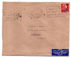 Réunion --1960--Lettre De SAINT DENIS Pour SAINT DENIS-93..timbre, Cachet Avec Flamme.....à Saisir - Storia Postale