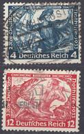 DEUTSCHES REICH - 1933 - Lotto Di 3 Valori Usati: Yvert 471 E 475. - Usati
