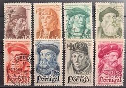 PORTUGAL 1945 - Canceled/MNH- Sc# 642-649 - Navigators - Used Stamps