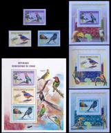République Démocratique Du Congo - 2647/2649 + BL600/602 + BL603  - Oiseaux - 2011 - MNH - Mint/hinged