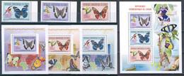 République Démocratique Du Congo - 2656/2658 + BL612/614 + BL615  - Papillons - 2011 - MNH - Mint/hinged