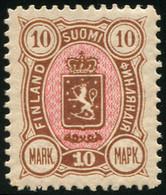 * FINLANDE 27 : 10m. Bistre Et Rose, TB - Unused Stamps