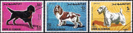 Umm Al-Qiwain 1967 - Mi 215/17 - YT Pa 12/1 à 12/3 ( Dogs ) Airmail - Dogs